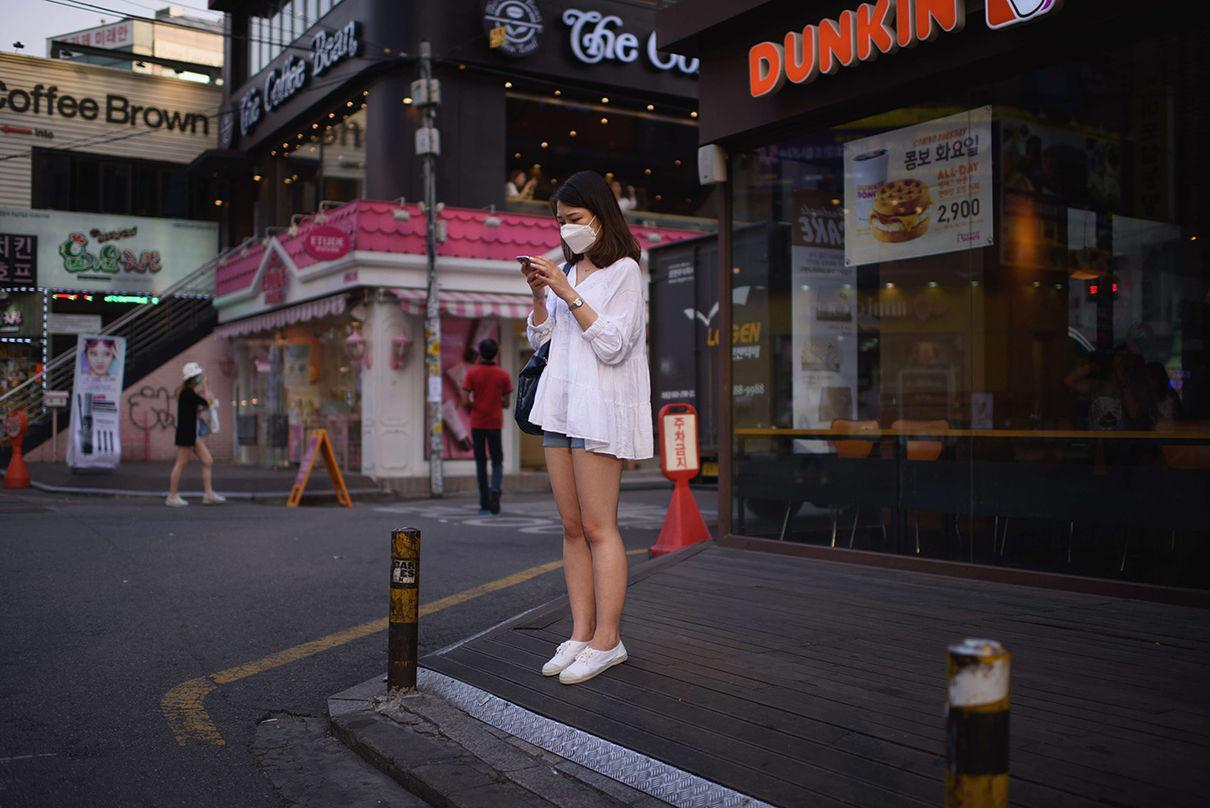 Люди на улице южная корея фото