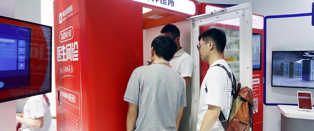 Картинки по запросу Китайский стартап установит на улицах и в метро тысячи миниклиник с ��-врачом