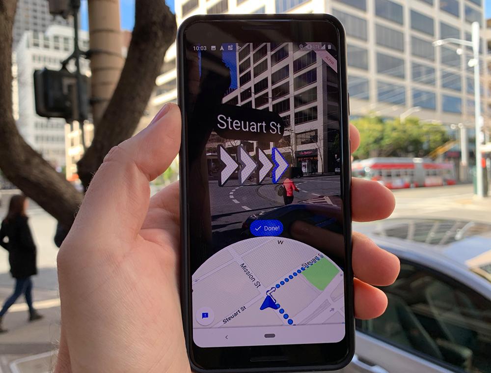 Google Maps сдополненной реальностью стали доступными для всех