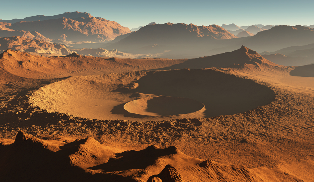 """Картинки по запросу """"Марс за время существования пережил три столкновения с зародышами планет"""""""