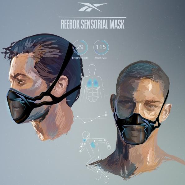 Reebok представила концепт маски для спорта с мхом для очистки воздуха