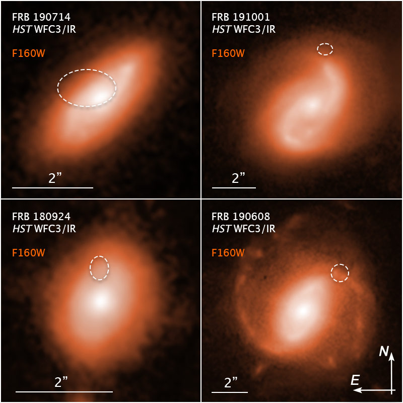 «Хаббл» відстежив п'ять швидких радіовсплесков до їх рідних галактик