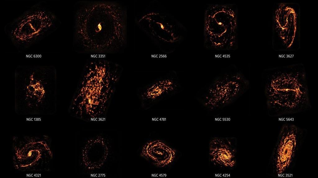 Астрономи нанесли на карту 100 000 місць народження зірок в 90 галактиках