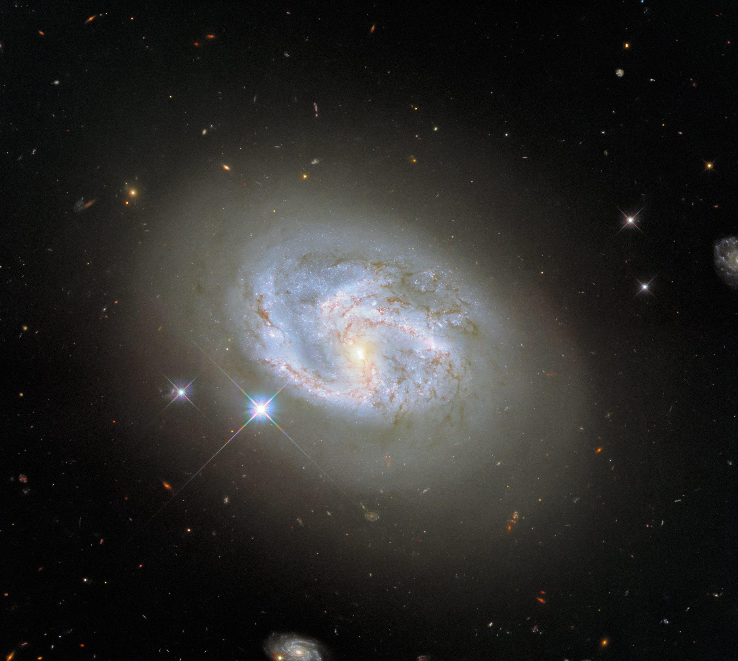Подивіться на спіральну галактику з сусідами